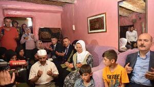 Bakan Soylu, PKKnın öldürdüğü bakkalın ailesini ziyaret etti