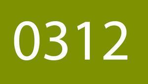 0312 nerenin telefon alan kodu