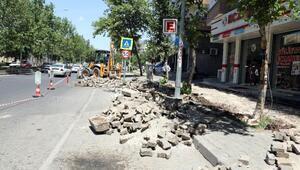 Diclekent bulvar yolu yenileniyor