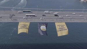 Şampiyon VakıfBankın bayrağı boğaz köprüsünde
