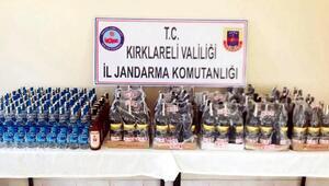 Mükerrer bandrol kullanılan 179 şişe içki ele geçirildi