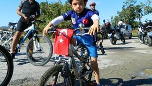 Bisiklet ve doğa tutkunları Burhaniyede buluştu