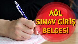 MEB AÖL sınav giriş yerlerini açıkladı | AÖL sınav giriş belgesi sorgulama