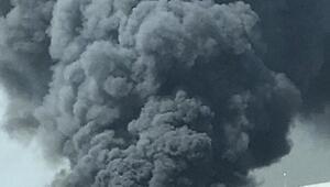 Hadımköyde fabrika yangını (1)