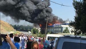 Ek fotoğraf // Hadımköyde fabrika yangını