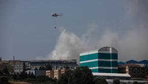 Fotoğraf// Hadımköyde fabrika yangını