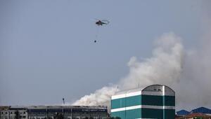 Fotoğraflar// Hadımköyde fabrika yangını