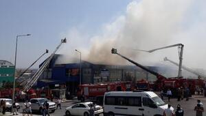 Ek fotoğraflar //Hadımköyde fabrika yangını