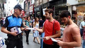Trabzonda polisten broşürlü uyarı