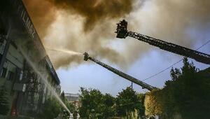 Ek fotoğraflar // Hadımköyde fabrika yangını