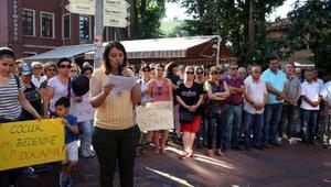 Zonguldakta kadınlar, çocuk cinayetlerini protesto etti