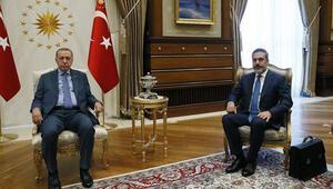 Cumhurbaşkanı Erdoğan, MİT Müsteşarı ile görüştü