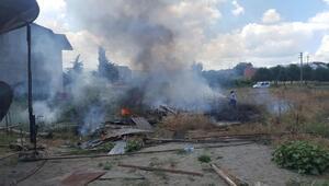 Samsunda iki mahallede anız yangını