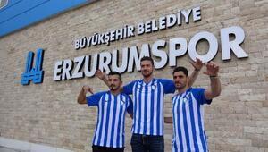 Büyükşehir Belediye Erzurumsporda 3 imza