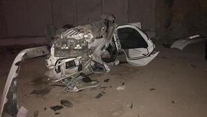 Otomobil, yapımı süren köprüden uçtu: 1 ölü, 2 yaralı