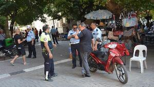 Erdekte kural dinlemeyen motosiklet sürücülerine ceza yazıldı