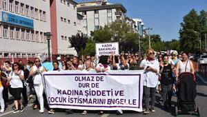 Çorluda kadına şiddet ve çocuk istismarı protesto edildi