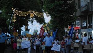 Akçakocada, çocuk istismarına karşı sessiz yürüyüş
