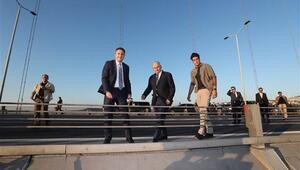 Başbakan Yıldırım, köprüdeki intiharı önledi