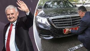 Son Başbakan Binali Yıldırımın makam otomobilinin plakası değiştirildi