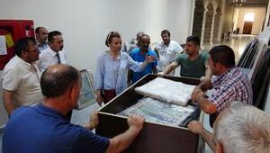 Paha biçilemez tablolar geniş güvenlik önlemi altında Erzuruma getirildi