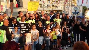 Silivride çocuk istismarı ve kadına şiddet protestosu