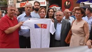 İzmirde, Srebrenitsa Katliamı unutulmadı