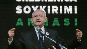 Kemal Kılıçdaroğludan Avrupaya Srebrenitsa katliamı eleştirisi
