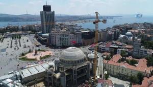 Taksim Camiinde son durum havadan görüntülendi