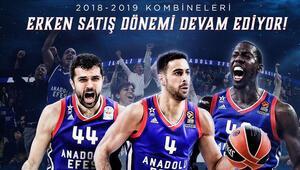 Anadolu Efes'in 2018 – 2019 sezonu kombineleri için erken satış dönemi devam ediyor