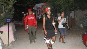 Ormanlık alanda kaybolan 2 turisti AKUT ekibi kurtardı