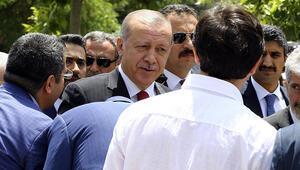 Cumhurbaşkanı Erdoğan Hacıbayram Camisinde