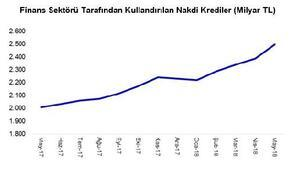 TBB: Nakdi krediler Mayıs'ya 2.49 trilyon liraya yükseldi