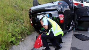 Otomobilin çarptığı cip, takla attı: 5 yaralı