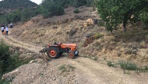 Traktör sürücüsü kazada öldü