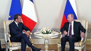 Final öncesi Macron-Putin buluşması