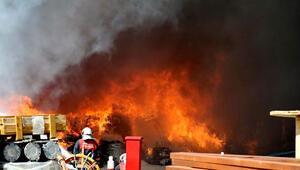 Ankarada korkutan fabrika yangını