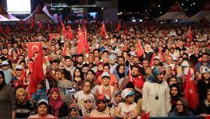 Samsunda vatandaşlar 15 Temmuz için toplandı