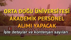 Orta Doğu Teknik Üniversitesi Akademik personel alacak.. İşte detaylar