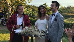 Bozcaada'da evlendiler