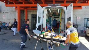 3üncü kattan düşen çocuk yaralandı
