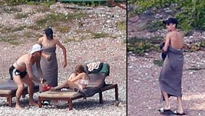 Beckham ailesi tatilde: Ben duşa gidiyorum, çocukla sen ilgilen