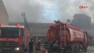 Zeytinburnuda fabrika yangını