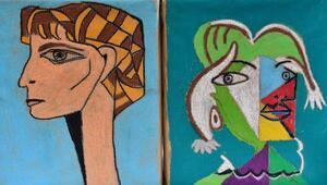 Picasso tarzı resimleriyle dikkat çekiyor
