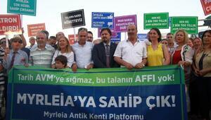 Antik kent üzerindeki AVM için imar barışı başvurusu protesto edildi
