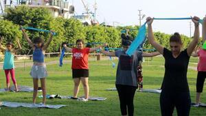 Erdemlili kadınlar egzersizle zinde kalıyor