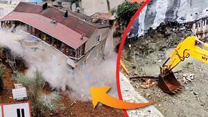 Göz göre göre yıkılmış... Duvar böyle oydu