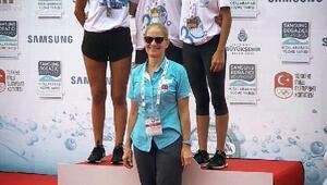 Osmangazili yüzücü Azra, bronz madalyayı kazandı