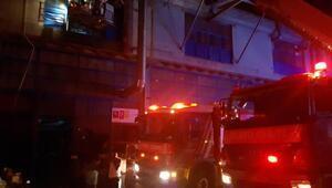 Başakşehirde fabrika yangını