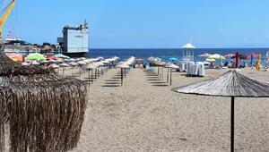Süleymanpaşanın halk plajına yoğun ilgi
